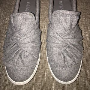 Grey Slide On Sneakers